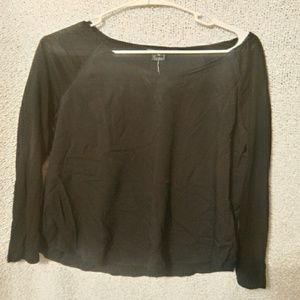 French connection NWT black long sleeve
